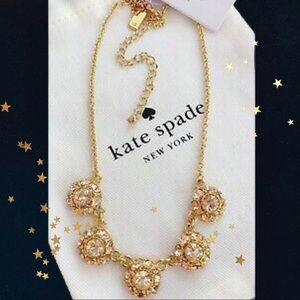 NWT Kate spade puttin on the Ritz/gold necklace
